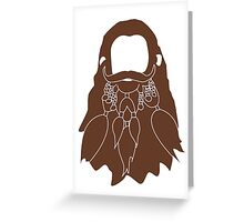 Gloin's Beard Greeting Card