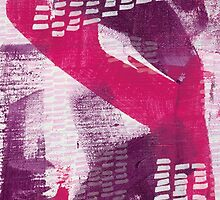 Plum Dandy - Textured Abstraction by angelique devitte