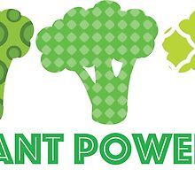 'Powered by Veg' Broccoli Vegan Design by nemofish