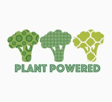 'Powered by Veg' Broccoli Vegan Design Kids Tee