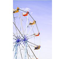 Colourful Ferris Wheel Photographic Print