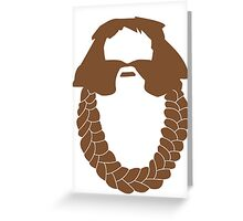 Bombur's Beard Greeting Card