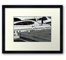 Come aboard the seagulls said Framed Print