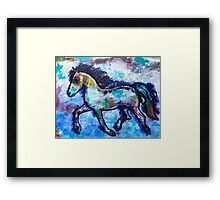 Galloping into Freedom: Inner Power Painting Framed Print
