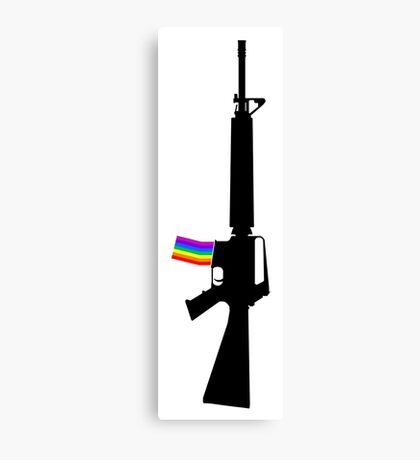 Machine Gun Silhouette - M-16 Edition Canvas Print