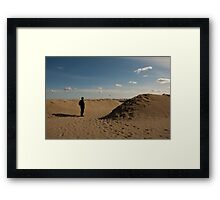 """""""This is not a Tourist,"""" Lido Beach, Venice, Italy Framed Print"""