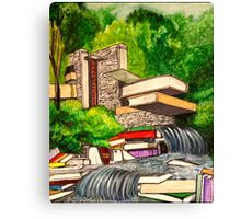 Falling Books Canvas Print