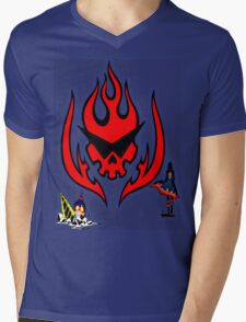 Gurren Lagann Colored Mens V-Neck T-Shirt