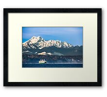 Washington State Ferry, Puyallup Cruising from Edmonds to Kingston  Framed Print