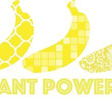 'Plant Powered' Vegan Banana Design by nemofish