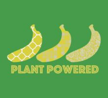 'Plant Powered' Vegan Banana Design Baby Tee