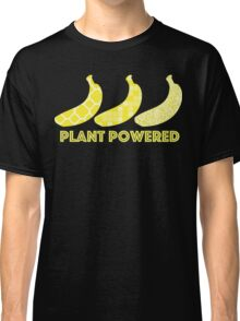 'Plant Powered' Vegan Banana Design Classic T-Shirt