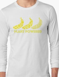 'Plant Powered' Vegan Banana Design Long Sleeve T-Shirt