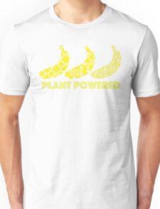 'Plant Powered' Vegan Banana Design Unisex T-Shirt
