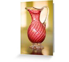 Pink jug Greeting Card