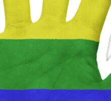 Rainbow Hand LGBT Sticker