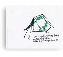 Psalm 61: Tent Canvas Print