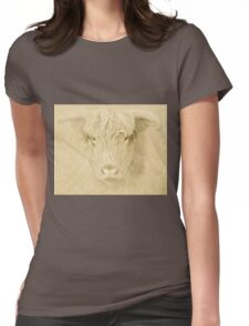 Portrait of a Highland Cow Womens Fitted T-Shirt