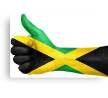Jamaica OK Hand Flag Canvas Print