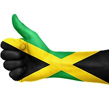 Jamaica OK Hand Flag Photographic Print
