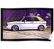 VW Golf GTi Convertable Poster