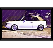 VW Golf GTi Convertable Photographic Print
