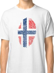 Norway Fingerprint Flag Classic T-Shirt