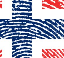 Norwegian Fingerprint Flag Sticker
