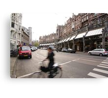 Amsterdam Rush Canvas Print