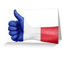 France OK Hand Flag Greeting Card