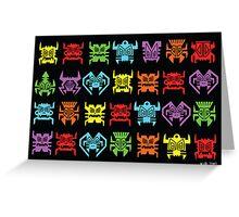 Tiki Invaders Greeting Card