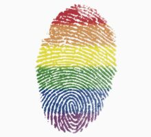 Rainbow Fingerprint LGBT by vintage-shirts