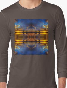 Winter warmth in blue & gold Long Sleeve T-Shirt