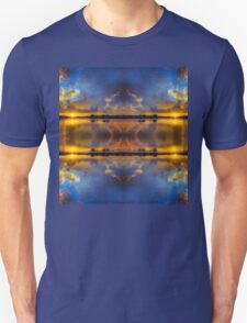Winter warmth in blue & gold Unisex T-Shirt