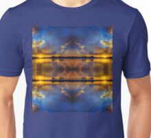 Winter warmth in blue & gold Unisex T-Shirt