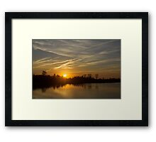 Cool Contrails and Sunshine Framed Print
