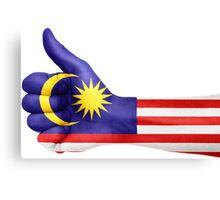 Malaysia OK Hand Flag Canvas Print
