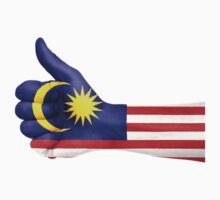 Malaysia OK Hand Flag by vintage-shirts