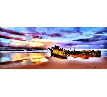 Wrecked In Paradise Photographic Print