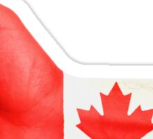 Canada Flag Hand OK Sticker