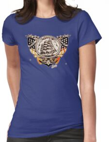 Tattoo Ship Womens Fitted T-Shirt