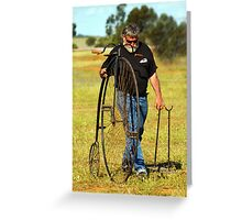 PENNY FARTHING Greeting Card