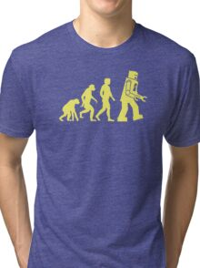 Sheldon Robot Evolution Tri-blend T-Shirt