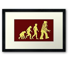 Sheldon Robot Evolution Framed Print
