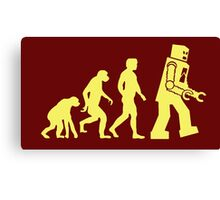 Sheldon Robot Evolution Canvas Print