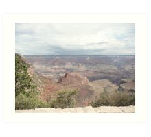 An Overlook of the Grand Canyon South Rim. Art Print