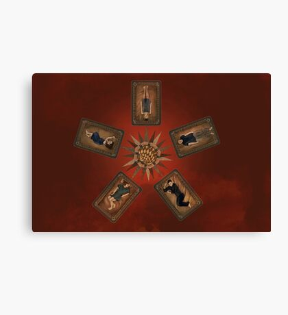 Art deco Dollhouse Canvas Print