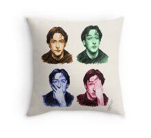 Many faces of John Cusack Throw Pillow