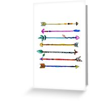 Watercolour Arrows Greeting Card