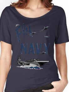 Fly Navy Women's Relaxed Fit T-Shirt